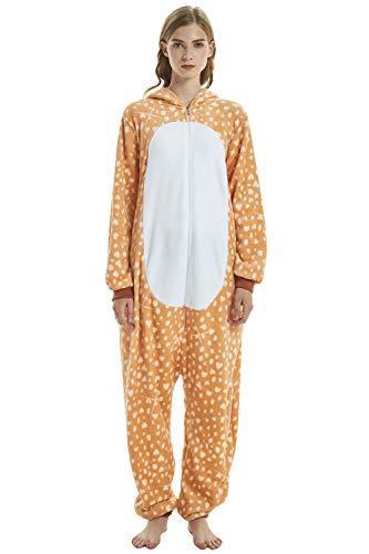 Uomo Attrezzatura Halloween Pigiama Natale Donna Elk Onesie Sleepwear Adulto Cosplay Costume Kigurumi Dolamen Anime Party Unisex xzfwOWqtY