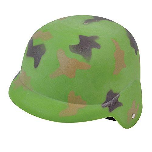 Bristol Novelty BH572 Camouflage Helmet, Mens, Green, One Size]()