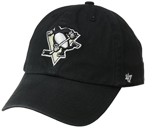 (NHL Pittsburgh Penguins '47 Clean Up Adjustable Hat, Black, One Size)