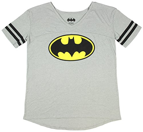 Batman+Retro+Shirts Products : DC Comics Batman Varsity Junior's V-Neck T-Shirt