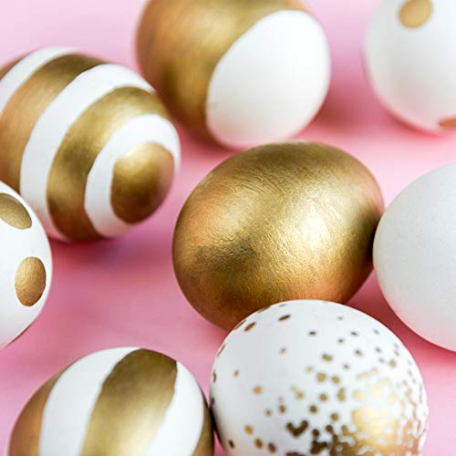 30 PCS White Plastic Eggs Paintable Easter Eggs Fake Eggs for Crafts Easter Hunts Basket Fillers Easter Gift and Party Favor