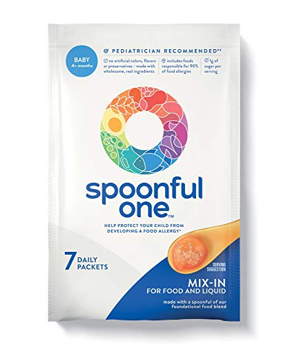 SpoonfulOne Once-Daily Mix-Ins: A Simple and Safe Approach to Help Protect Babies from Developing a Food Allergy. 7-Count Supply of Baby Food add-in for Age 4+ Months