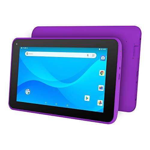 Ematic 7″ Quad-Core Tablet with Android 8.1 Go Edition, Purple