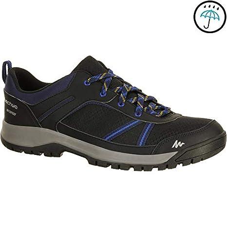 f092340809412c QUECHUA ARPENAZ 100 Men s Waterproof Hiking Shoes - Black  Amazon.in ...