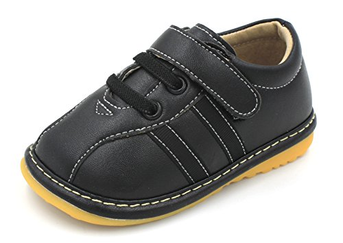 Toddler Shoes | Squeaky Black Sneakers Toddler Boy Shoes | Premium Quality (Removable Squeakers) (4)