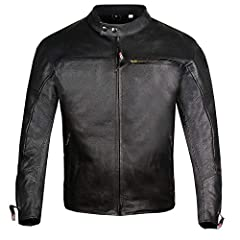 Genuine 1.2mm cowhide ARMOR leather jacket. Contains pre-installed 5PC removable best quality armor. Perforated leather in arms and ventilation zipper in back offers perfect ventilation system. Multiple inside and outside pockets offer lot of...