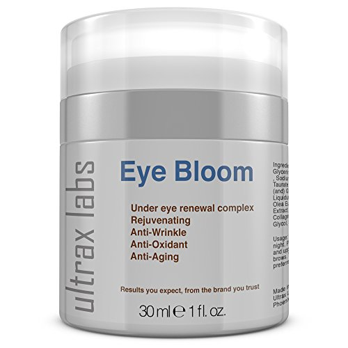 Ultrax Labs Eye Bloom | Under Eye Cream for Wrinkle Repair, Puffiness, Dark Circles and Bags (Best Eye Cream For Thin Crepey Skin)