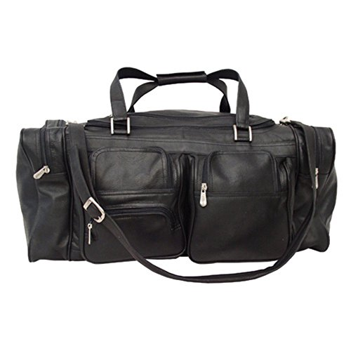 (Piel Leather 24 in. Duffel Bag with Pockets)