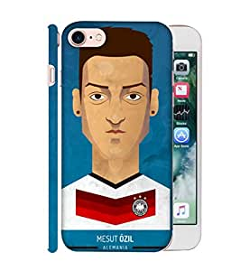 ColorKing Football Ozil Germany 01 Blue shell case cover for Apple iphone 7