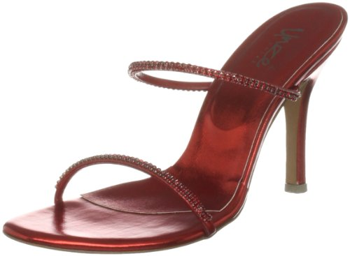 Unze Evening Sandals L18515W - Sandalias para mujer Rojo