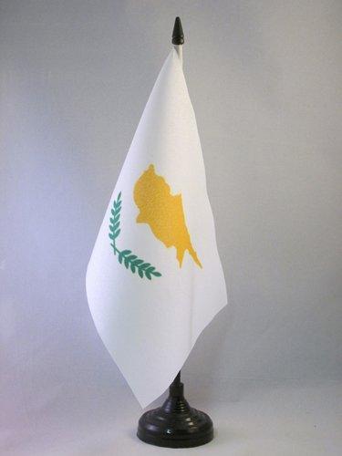 AZ FLAG Drapeau DE Table Chypre 21x14cm - Petit Drapeaux DE Bureau CHYPRIOTE 14 x 21 cm