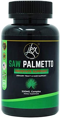Saw Palmetto Supplement for Prostate Health Extract Berry Powder Complex Supports Urinary Tract Function Prevents Hair Loss and May Block The DHT, Non-GMO, 500mg 100 Capsules.