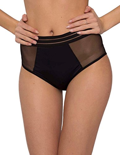 Maison Lejaby 171264-04 Women's Nufit Black Knickers Panty Full Brief LGE