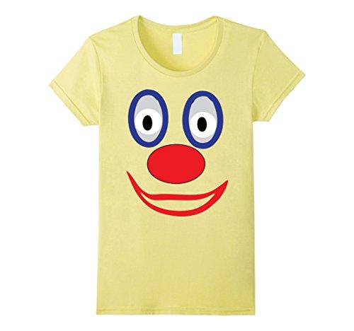 Women's Creepy Clown T Shirt Creepy Clown Halloween Costume Emoji  Small Lemon (Cute Female Clown Costumes)