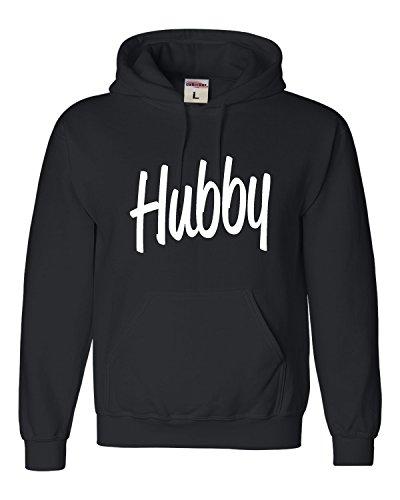 Go All Out XX-Large Black Adult Hubby Funny Newlywed Bride Groom Sweatshirt Hoodie