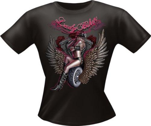 Lady Shirt - Lady Biker - Lustiges Sprüche Shirt als Geschenk für Damen mit Humor