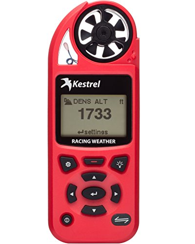 Kestrel 5100 Handheld Bracket and Drag Racing Environmental Meter - Helps with dial-in or tuning decisions - Measures moisture content (grains), air density, relative air density, relative humidity. (Monitor Index Digital Pocket Heat)