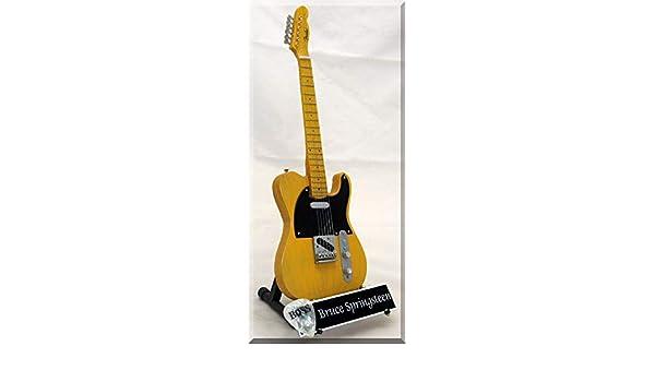 BRUCE SPRINGSTEEN Guitarra miniatura con púa de guitarra: Amazon ...