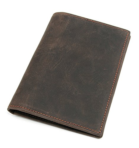 Polare Men's Slim RFID Blocking Leather Passport Holder Travel Bifold Wallet ()