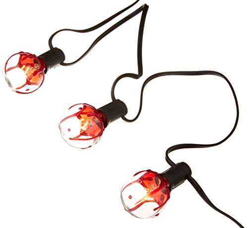 AMSCAN Bloody Globe String Lights, Halloween Props and Decorations, 11'