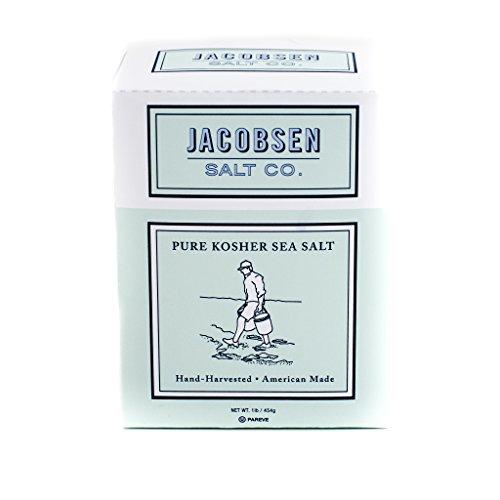 Jacobsen Salt Co Pure Kosher Sea Salt Hand Harvested in Netarts Bay, OR, Made in USA