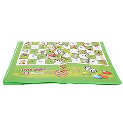 Timetries Snakes and Ladders Family Board Game Brain Teaser Toys Board Game Non-Woven Chess Board: Toys & Games