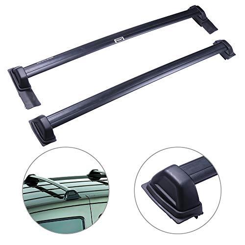 SCITOO fit for 2003-2011 Honda Element Sport Utility Aluminum Alloy Roof Top Cross Bar Set Rock Rack Rail