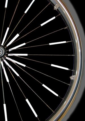 Glow Spokes Made With 3m Reflective Paint Fits