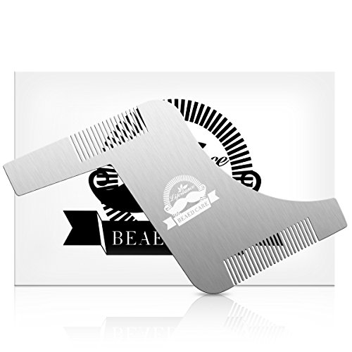 Template Stainless Symmetric Mustache Grooming