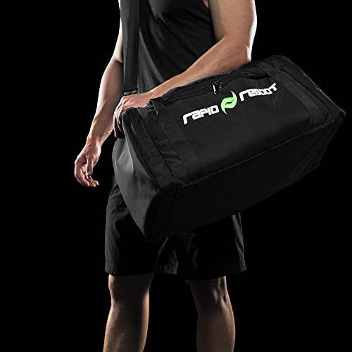 Rapid Reboot Recovery Duffel Bag: Padded Duffel Bag for recovery attachments and pump. Air compression therapy for improved circulation, fast workout recovery for runners, & other athletes.