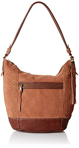 The Sak Sequoia Hobo, tobacco suede studs
