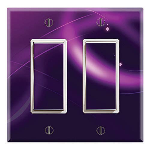 Graphics Wallplates - Abstract Purple - Dual Rocker/GFCI Outlet Wall Plate Cover