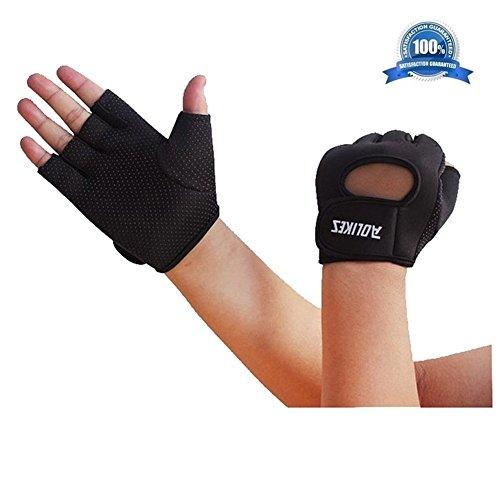 [Wonzone Anti-skid Half Finger Gloves unisex Cycling Bike Bicycle Gel Gloves Half Finger Ultra-breathable Outdoor Sports Shockproof half finger Glove for Women Men Kids Girls Boys Teens (Black] (Roller Skating Costumes)