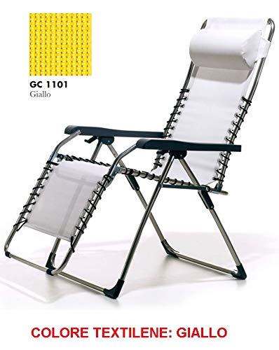ALTIGASI sillón Tumbona Relax con Cuadro de Aluminio con ...