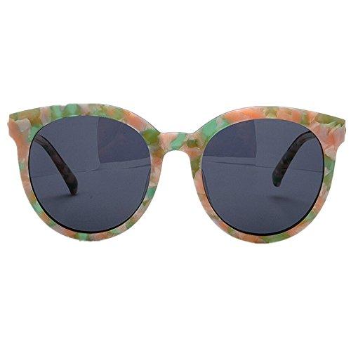 las Ojos de playa sol de rosa conducción flor Protección Gu polarizadas gafas de Peggy de gafas sol de lente gato al acetato fibra UV mujeres de TAC marco la aire libre de vacaciones EqXwE5Cp