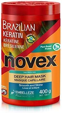 Novex Queratina Brasileña, Mascarilla Capilar - 400 gr.