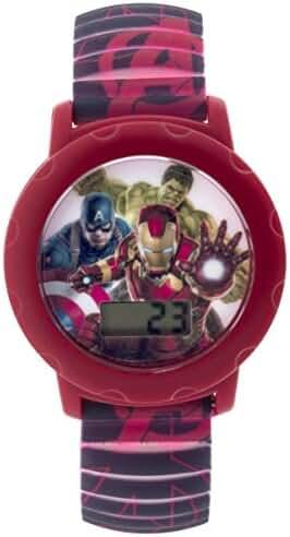Marvel Boy's Quartz Plastic Casual Watch, Color:Grey (Model: AVG2KD141)