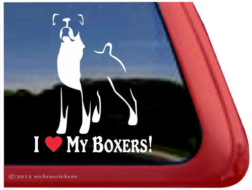 Boxers Vinyl Window Decal Sticker