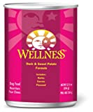 Wellness Super5Mix, Duck and Sweet Potato Recipe Dog Food (Pack of 12, 12.5-Ounce Cans), My Pet Supplies