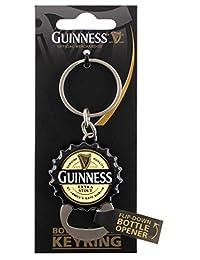 Guinness Contemporary Flip Down Bottle Opener Keychain