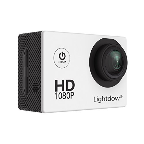 Lightdow LD4000 1080P HD Sports Action Camera Bundle with DSP:NT96650 Chip 1.5-Inch LPS-TFT LCD 170° Wide Angle Lens and Bonus Battery (White) [並行輸入品]   B0758612SJ