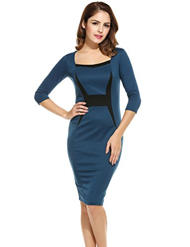 ANGVNS Womens Stripe Sleeve Business