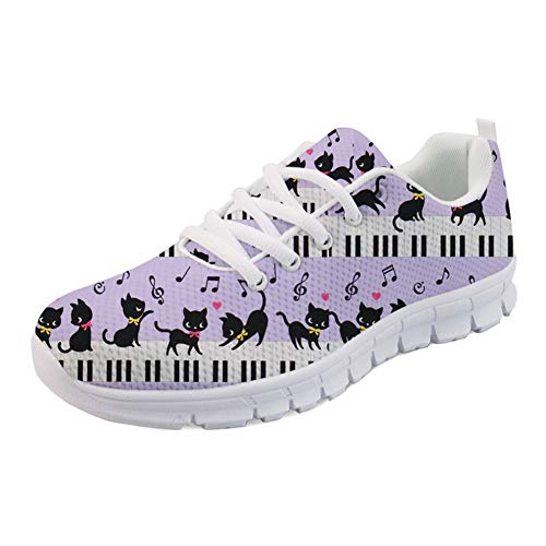 Coloranimal ColoranimalK-H849AQ4 - Informales para Mujer Music Piano With Cat-1