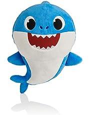 WowWee Pinkfong Baby Shark - Muñeca Oficial de canción, Papi tiburón, Azul, 6.9 x 8.3 x 11 (Inches)