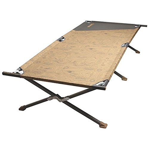Coleman Company Big-N-Tall Cot, 6'8'', Tan/Brown