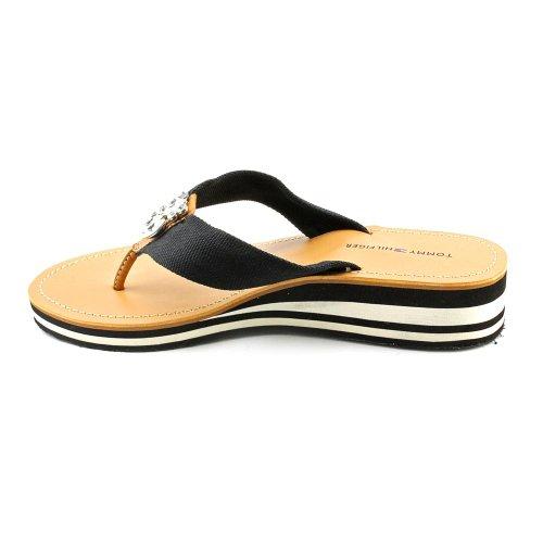 Tommy Hilfiger Roxanne Women US 6 Black Flip Flop Sandal