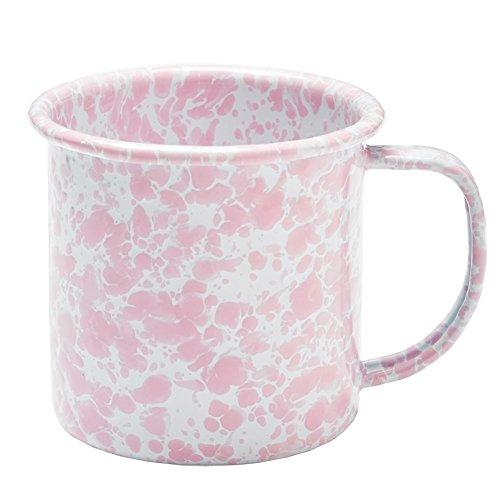 Enamelware Coffee Mug - Pink (Marble Enamelware)