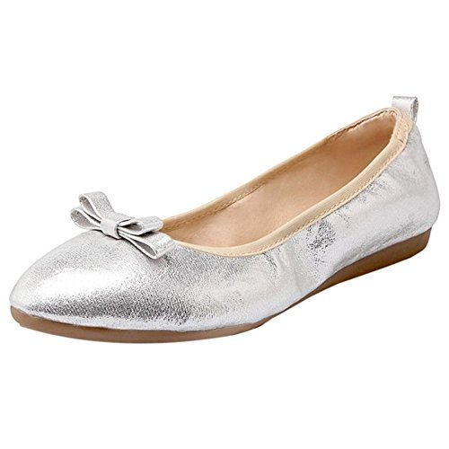 Silver Femmes Chaussures Confort Plat VulusValas wzq8RYv