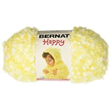 Bernat Small Polyester Happy Daisy Ball of Yarn, Daisy Yellow by Bernat