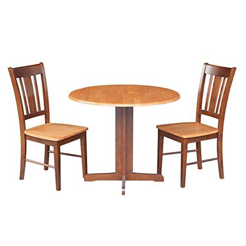 3 Piece Dining Set, Cinnamon / Espresso